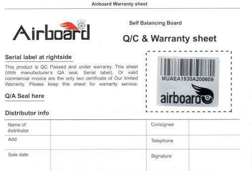 اسکوتر برقی هوشمند تایوانی Airboard 6.5 BAuPG L2